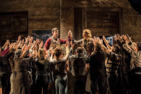 Anthony Gregory, Samantha Price, ENO Chorus - Ryan Wigglesworth: The Winter's Tale - ENO (photo Johan Persson)