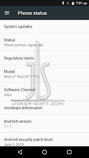 الفلاشه المسحوبه لهاتف Motorola Moto E4 Plus XT1771
