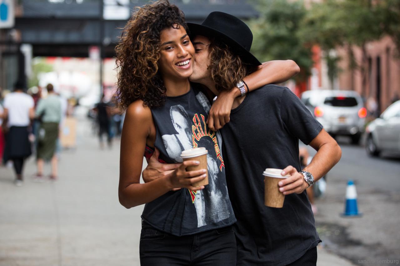 Street Style: Imaan Hammam Wears a Band Tee