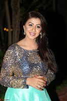 Nikki Galrani in Green Skirt  Top at Marakathamani music launch ~  Exclusive (83).JPG