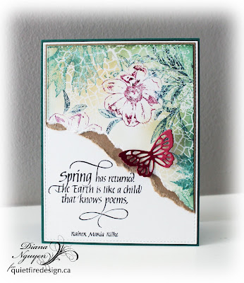 Diana Nguyen, Spring Has returned, Quietfire Design, Crackle Background