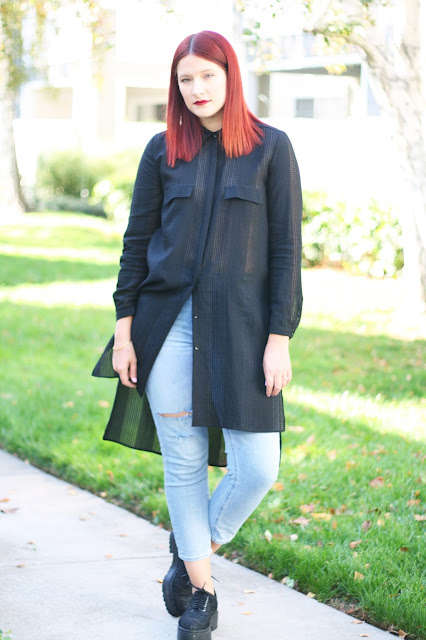 Long black zara shirt, ootd fashion blogger