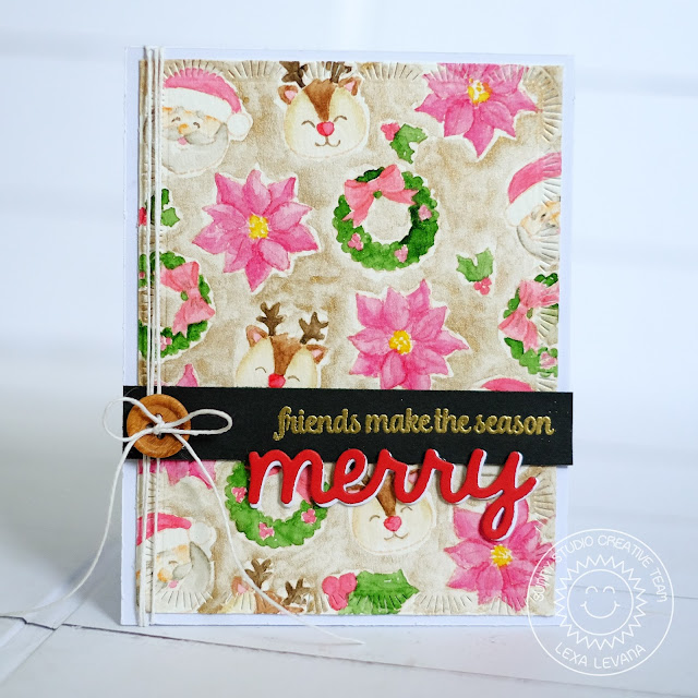 Sunny Studio Stamps: Christmas Icons No Line Watercoloring Holiday Card by Lexa Levana.