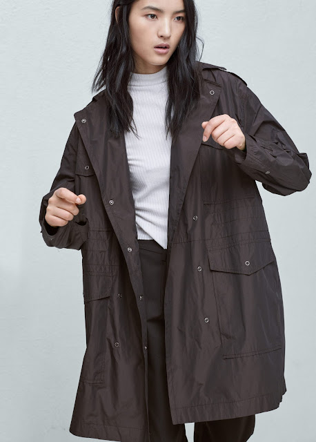 mango parka jacket, no hood parka, not hooded parka coat,