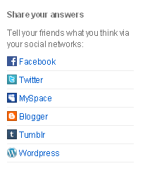 Share Your Formspring Answers on Social Networks and Blogs