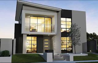 Model Desain Rumah Minimalis Berlantai 1 & 2