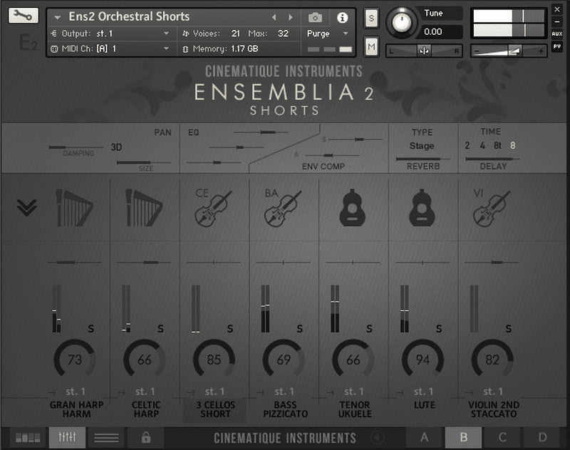 CINEMATIQUE INSTRUMENTS - Ensemblia 2 Orchestra KONTAKT Library shorts