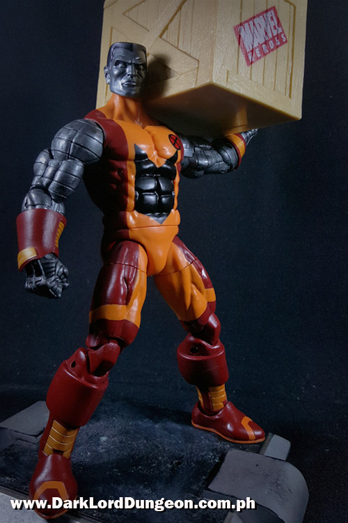 Marvel Legends Colossus carrying a Yellow Crate
