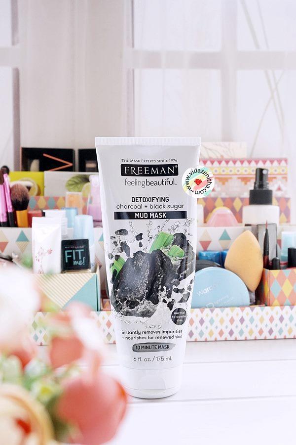 Review Freeman Detoxifying Charcoal Black Sugar Mud Mask Bahasa Indonesia