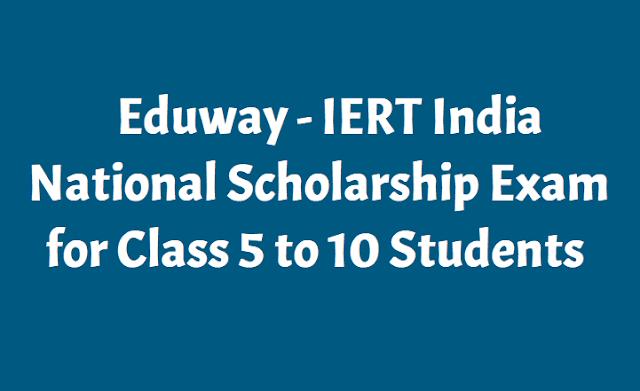 IERT India National Scholarship Exam