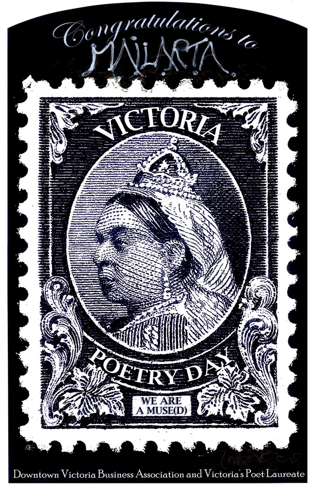 Mailarta Queen of Poste: Linda Rogers, Victoria, BC