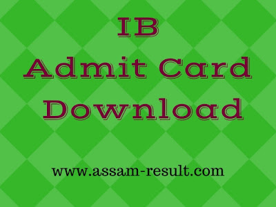 IB Admit Card Download