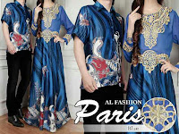 baju couple paris biru