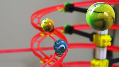 CHEGOU !!! PISTA de BOLINHAS de GUDE - Quercetti SkyRail Ottovolante Maxi Brinquedo Marble run