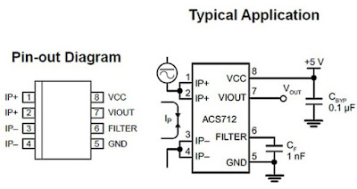 Rangkaian sensor acs712