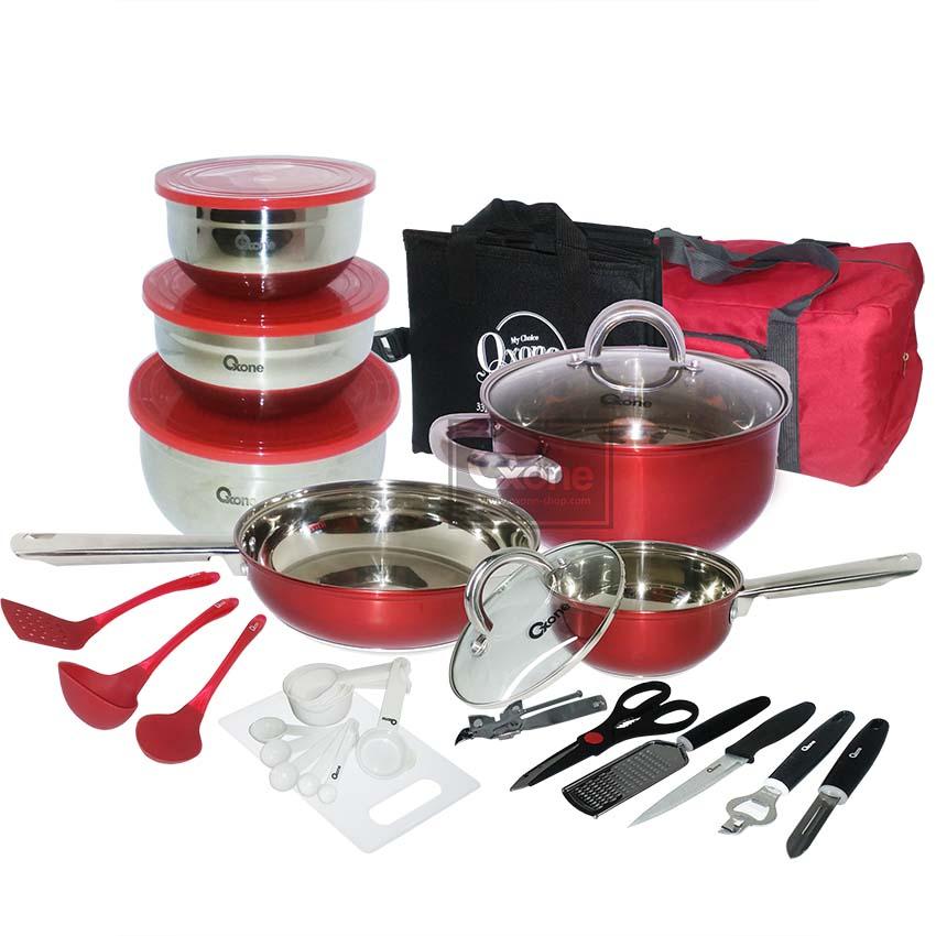 Jual Promo OX-993 33Pcs Oxone Panci Travel Cookware Set ...