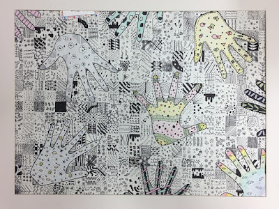 8th grade - Doodle Grid Drawings