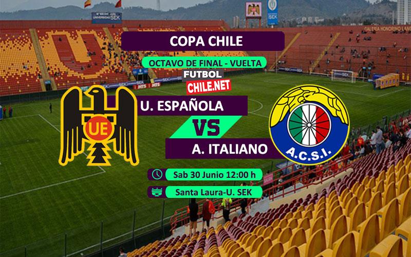 Mira Unión Española vs Audax Italiano en vivo y online por los octavos de final vuelta de la Copa Chile 2018