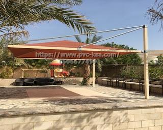 تركيب مظلات وسواتر في مدينة الخبر