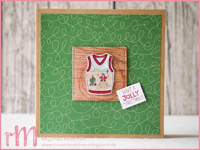 Stampin' Up! rosa Mädchen Kulmbach: Weihnachtskarten mit Christmas Sweaters