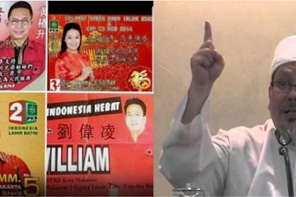 Ustadz Tengku Dilaporkan soal Cuitannya Foto Kampanye Caleg Bertulisan Mandarin