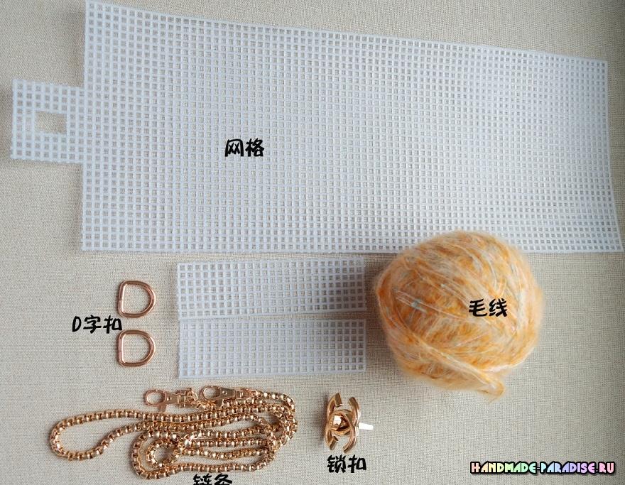 Детали для сумки из пластиковой канвы