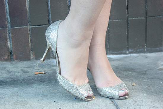 Jimmy Choo Champagne Glitter Heels | Will Bake for Shoes