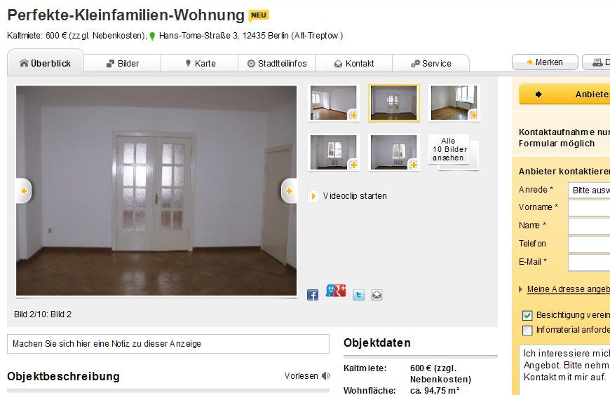 perfekte kleinfamilien wohnung hans toma stra e 3 12435 berlin. Black Bedroom Furniture Sets. Home Design Ideas