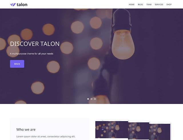 Talon free wordpress template. Free premium wp tepmlates dowload and save money