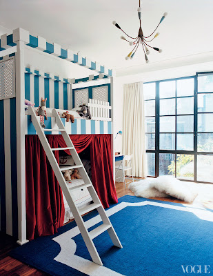 Tabitha Simmon's children's room designed by Annabelle Selldorf via belle vivir blog