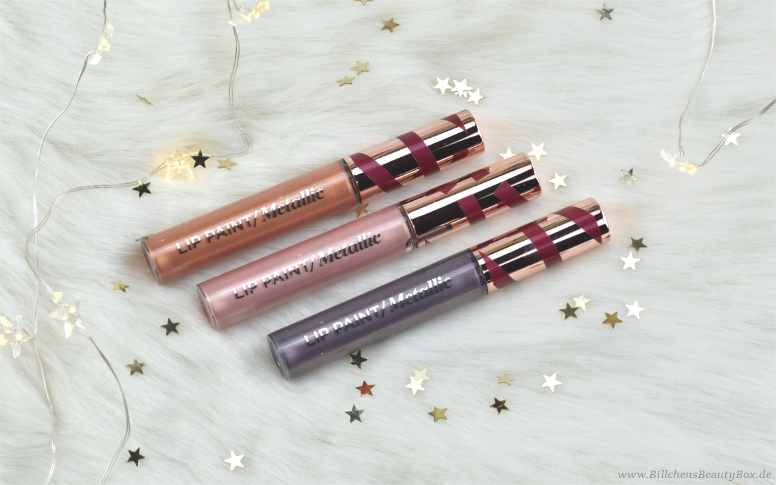 L'Oréal Infaillible Metallic Limited Edition - Lip Paint, Eye Paint und Highlighting Fluid Glow Drops - Review und Swatches