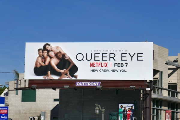 Queer Eye series premiere billboard