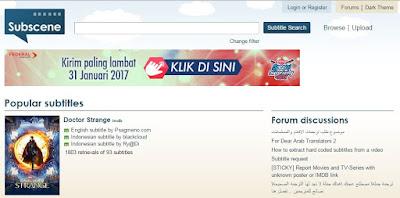 All Situs Download Movie Subtitle Bahasa Indonesia, Subtitle Gratis Terbaru