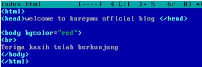 mengubah file index.html apache2 debian