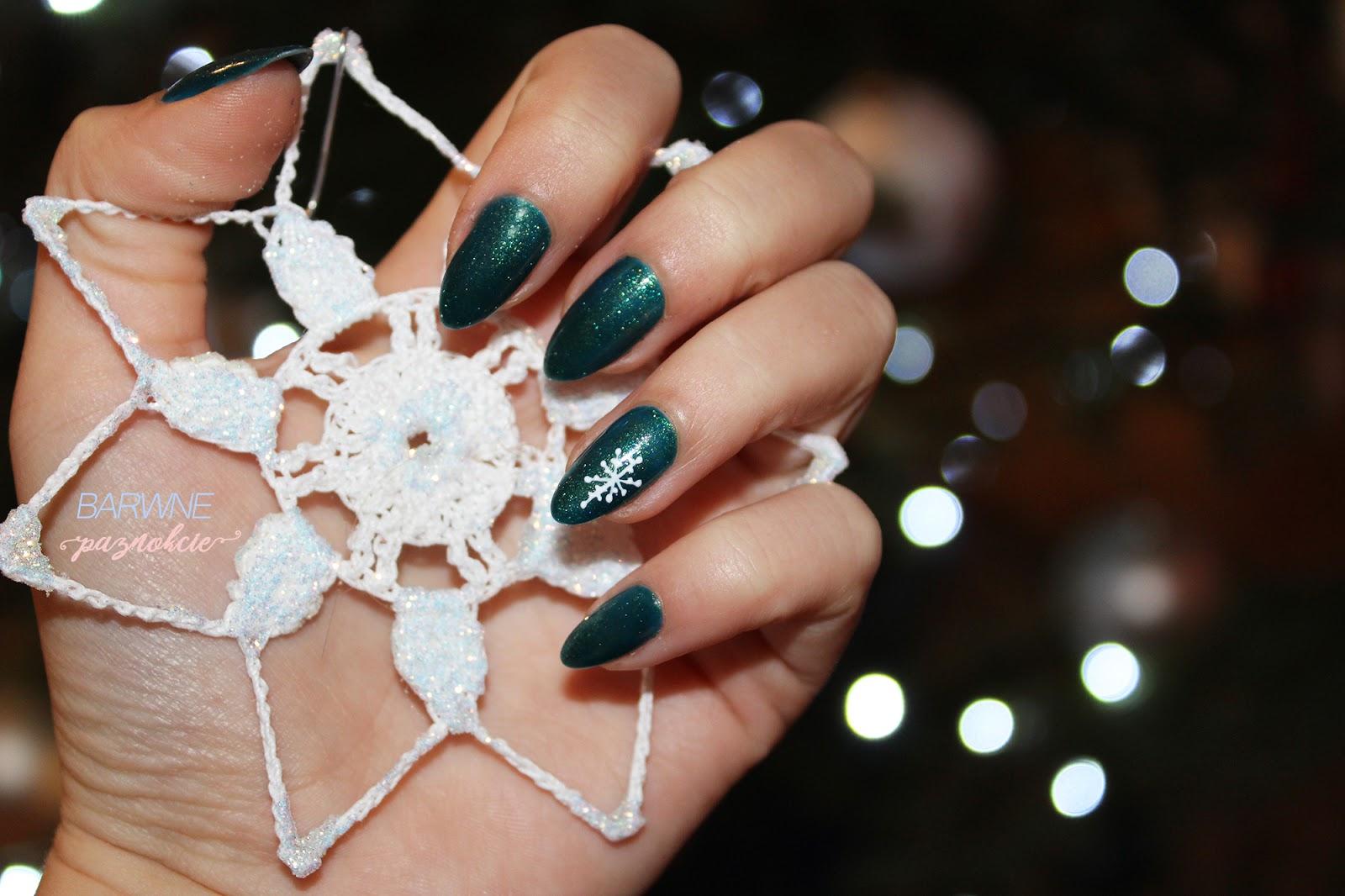 Barwne Paznokcie At Blogspotcom świąteczne Inspiracje Manicure