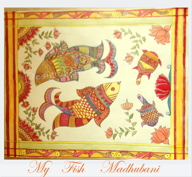 Madhubani Painting in natural dyes