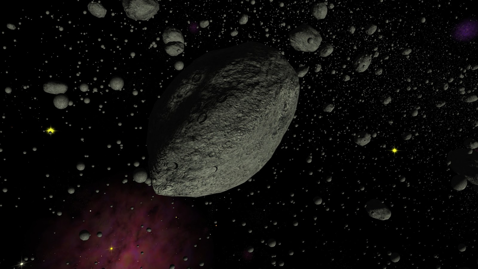 asteroid belt By comparison, asteroids that populate the main asteroid belt between mars and jupiter, and pose no threat to earth, can be as big as 940 kilometers.
