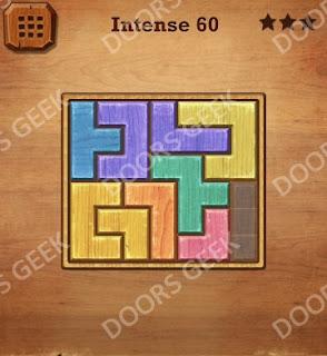 Cheats, Solutions, Walkthrough for Wood Block Puzzle Intense Level 60