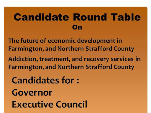 Farmington Responds Candidate Forum-Oct 4th At 6:30 PM - 8:30 PM
