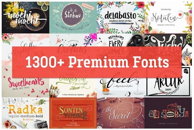 Chia sẻ hơn 1300 Font Premium đến từ Creative Fabrica