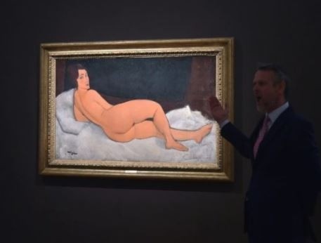 Photo: Nude painting by Italian artist sells for $157m at New York auction