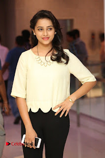 Actress Sri Divya Pictures in Jeans at Rayudu Movie Team Interview  0093