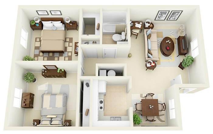2+1  geniş ev projeleri