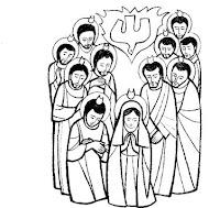 Resultado de imagem para pentecostes para colorir