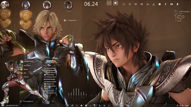 Windows 7 Theme Saint Seiya - Legend of Sanctuary by Andrea_37