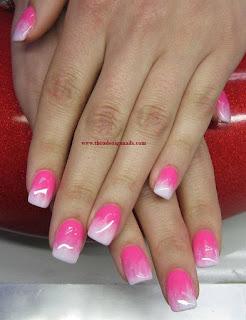 Rose Weiß Fingernägel