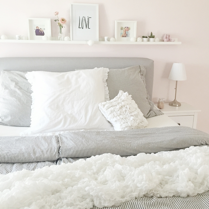 Wir bauen ein haus schlafzimmer boxspringbett for Schlafzimmer grau rosa