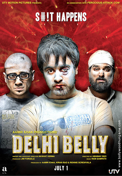 Poster Of Delhi Belly 2011 720p Hindi DVDRip Full Movie Download