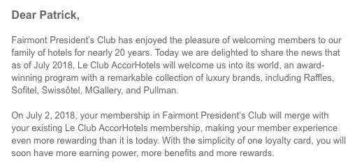 Fairmont President S Club Has Enjoyed The Pleasure Of Welcoming Members To Our Family Hotels For Nearly 20 Years Today We Are Delighted Share