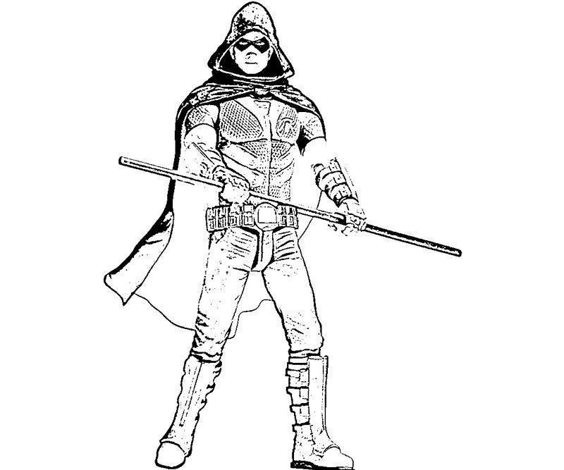 batman and robin printable coloring pages - batman arkham city robin weapon yumiko fujiwara